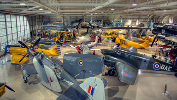 Photo of WWII Aircraft collection at Canadian Warplane Heritage Museum