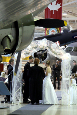 Photo of Wedding at Canadian Warplane Heritage