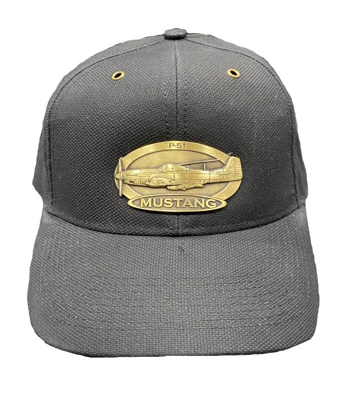 Product Photo of 11535 - P-51 Mustang Brass Logo Hat