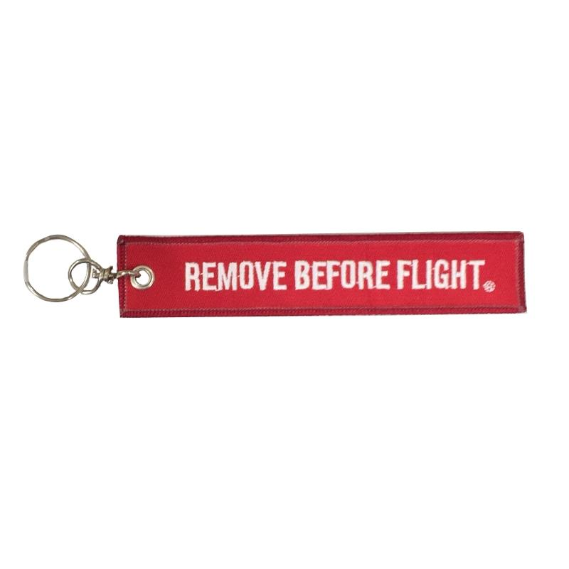 Product Photo of 25212 - Remove Before Flight Embroidered Keychain