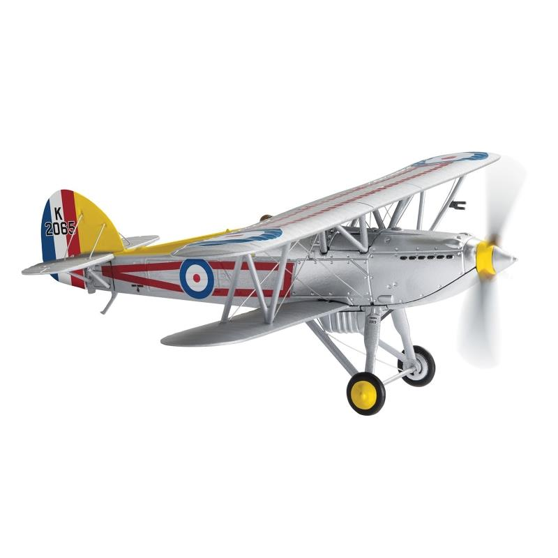 Product Photo of 26507 - Hawker Fury Mk.I, K2065, RAF No.1 Squadron, 'C' Flight Leader Diecast Model