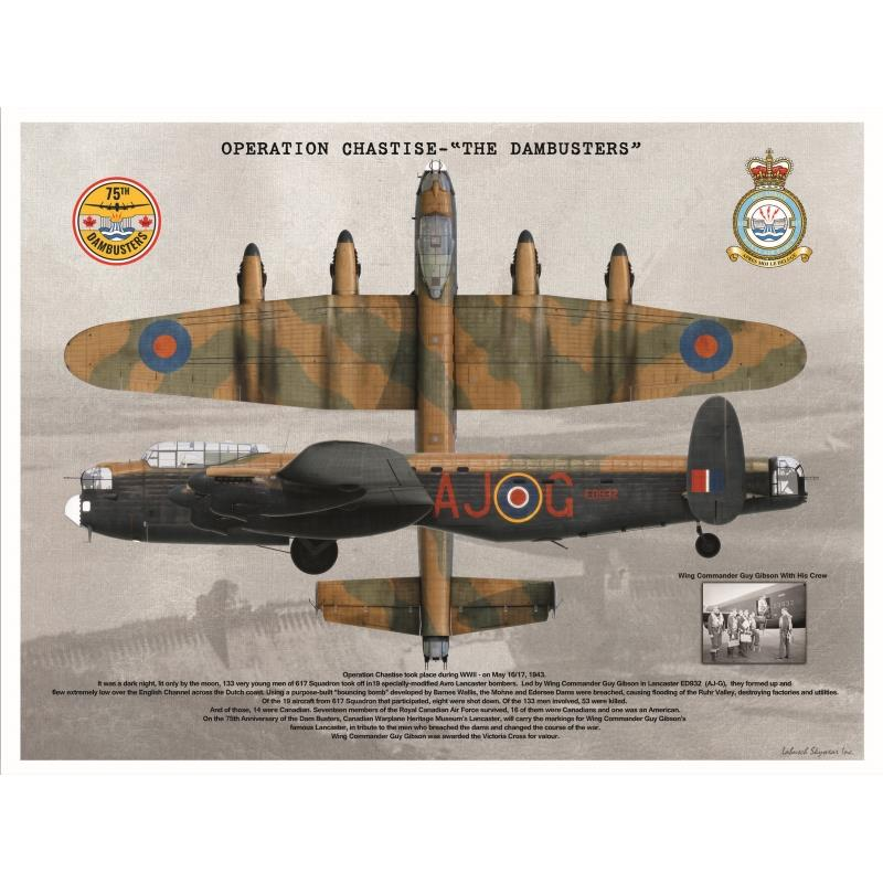 "Product Photo of 26611 - Operation Chastise ""The Dambusters"" Poster"