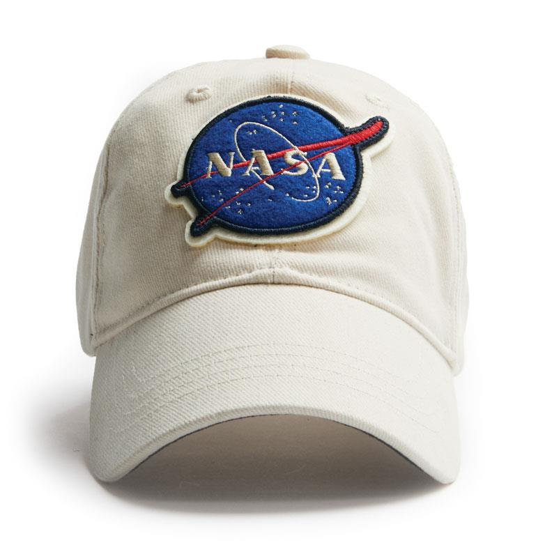 Product Photo of 26777 - Cream NASA Logo Hat