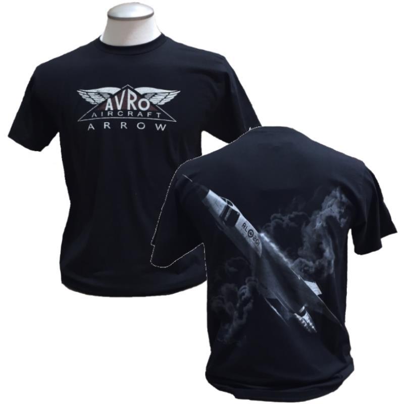 Product Photo of ARROW2017TSHIRT - Avro Arrow Black T-Shirt