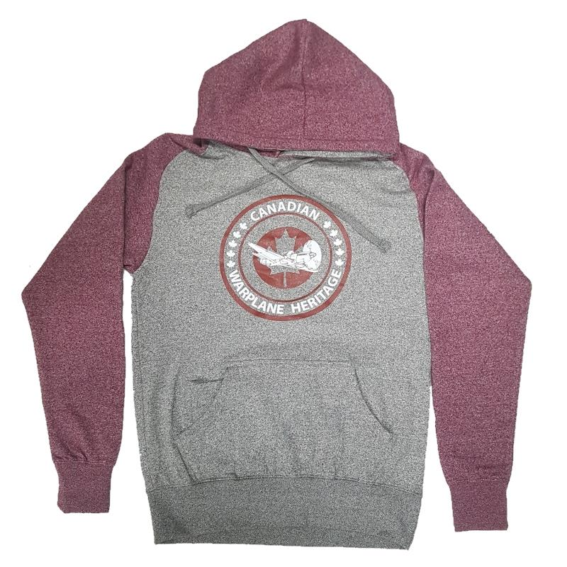 Product Photo of CWHMGREYREDHOODIE - Canadian Warplane Museum Grey and Red Hoodie