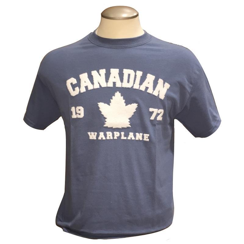 Product Photo of CWHSHENILLESLATE2018 - Canadian Warplane Heritage Museum Slate Blue T-Shirt
