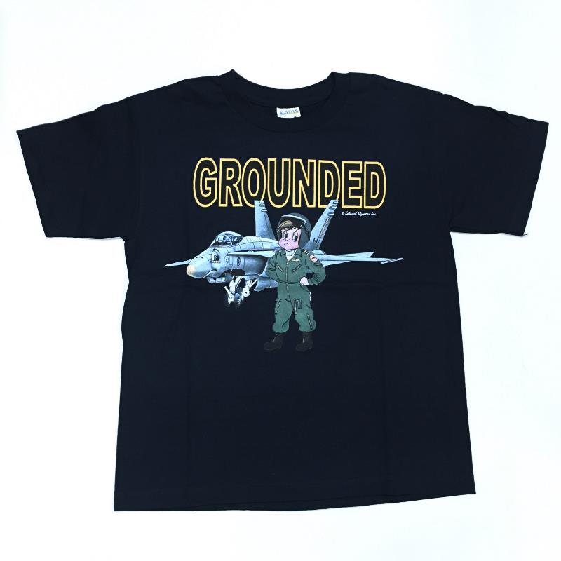 Product Photo of GROUNDEDCF18Y - Grounded! CF-18 Hornet T-Shirt