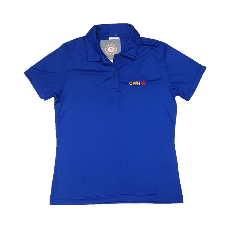Product Photo of LADIESROYALCWHPOLO - Ladies Royal CWH Maple Leaf Polo