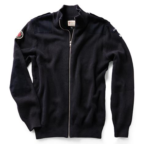 Product Photo of NAVYPATCHFULLZIPSWEAT - Navy Blue Full Zip Field Patch Sweater