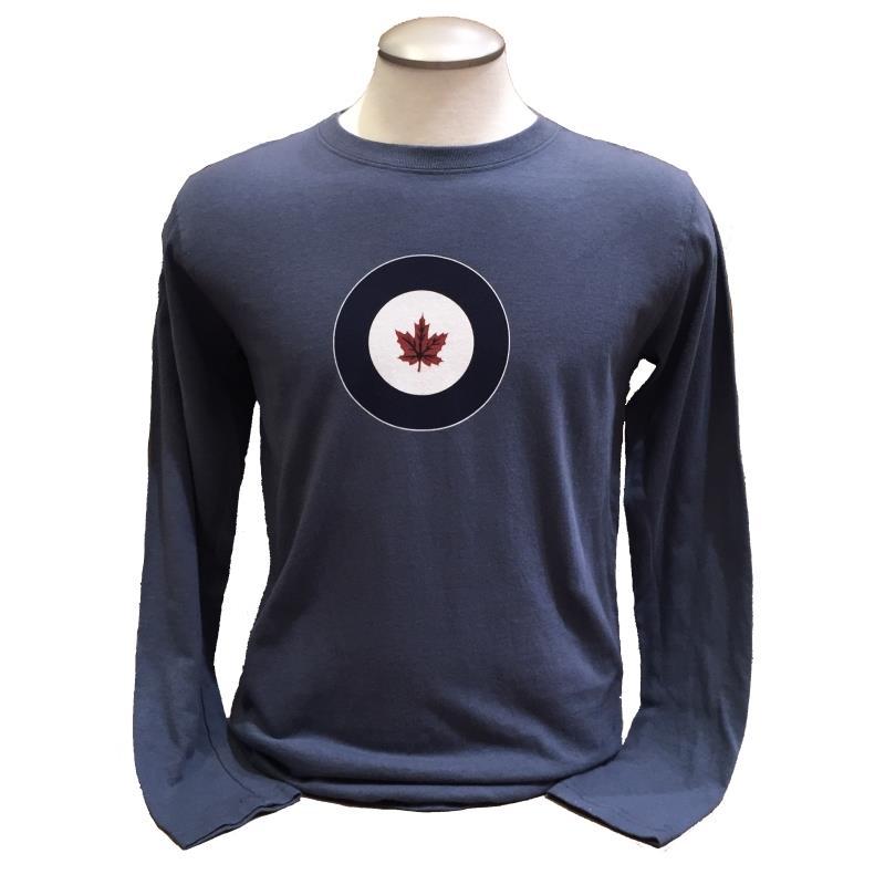 Product Photo of RCAFBLUELONGSLEEVE - RCAF Roundel Blue Long Sleeve Shirt