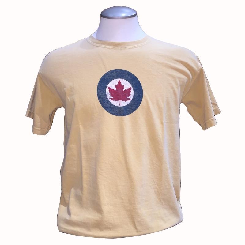 Product Photo of RCAFYELLOWROUNDEL - R.C.A.F. Roundel Yellow T-Shirt
