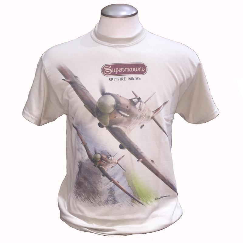 Product Photo of SPITFIREMKVB2017TSHIRT - Supermarine Spitfire Mk.VB T-Shirt