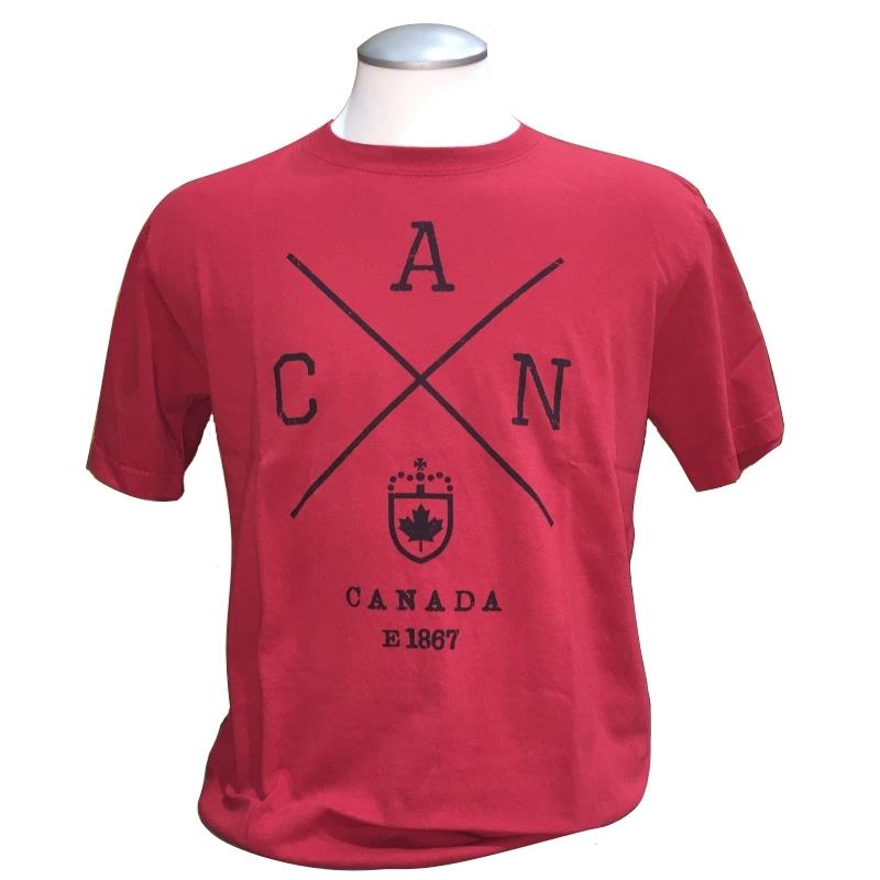 Product Photo of TSHIRTCADCROSSRED - Cross Canada T-Shirt
