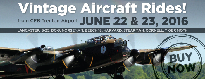 Poster for Vintage Aircraft Rides (from CFB Trenton Airport) event