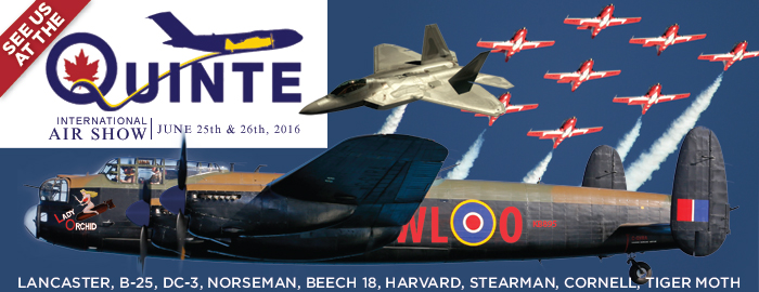 Poster for Quinte International Air Show event