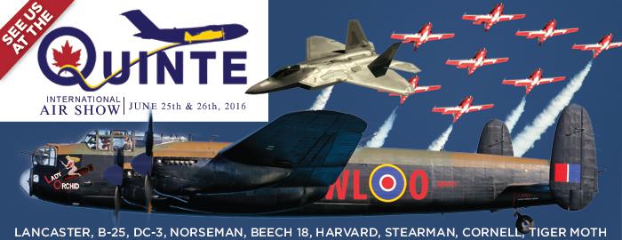 Poster for Quinte International Air Show event