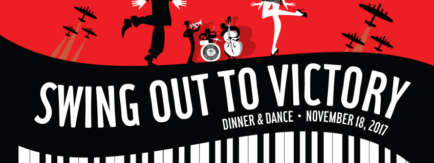 Poster for Swing Out to Victory Dinner & Dance event