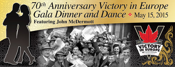 Poster for - 70th Anniversary Victory in Europe Gala Dinner & Dance