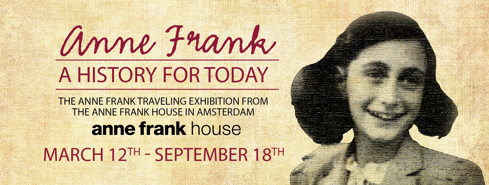 Poster for - Anne Frank - A History For Today