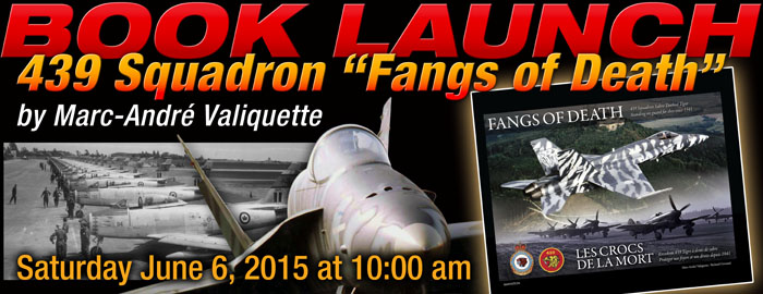 "Poster for Book Launch - 439 Squadron ""Fangs of Death"" event"