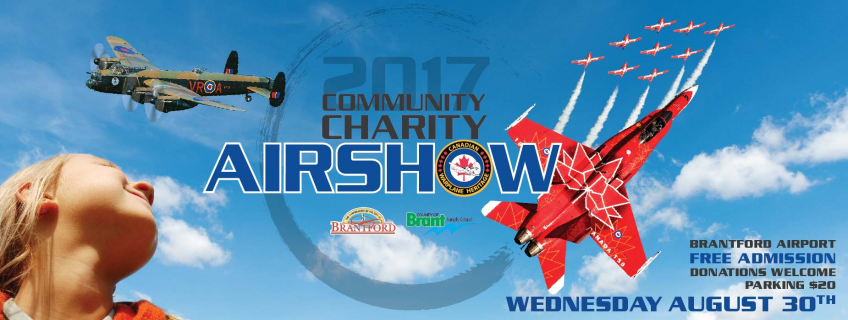 Poster for Community Charity Airshow event