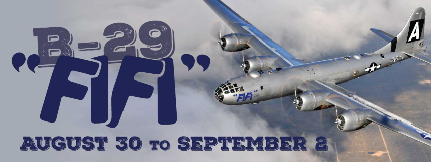 "Poster for B-29 ""FIFI"" Visit event"