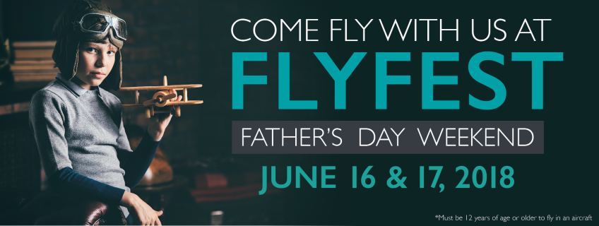 Poster for Come fly with us at FLYFEST event
