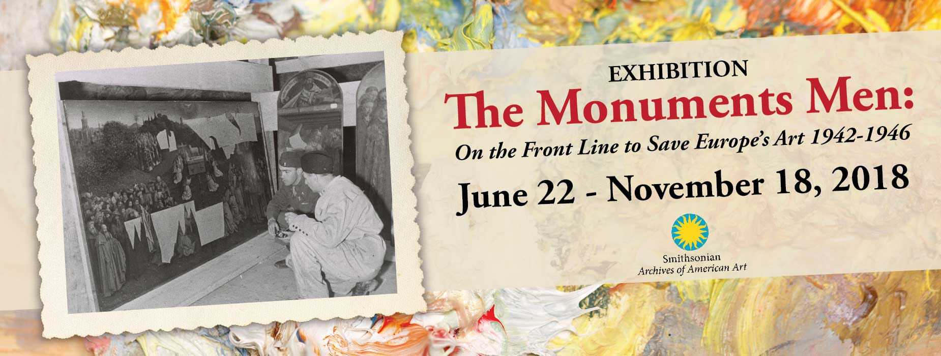 Poster for - Exhibition - The Monuments Men: On the Front Line to Save Europe's Art 1942-1946