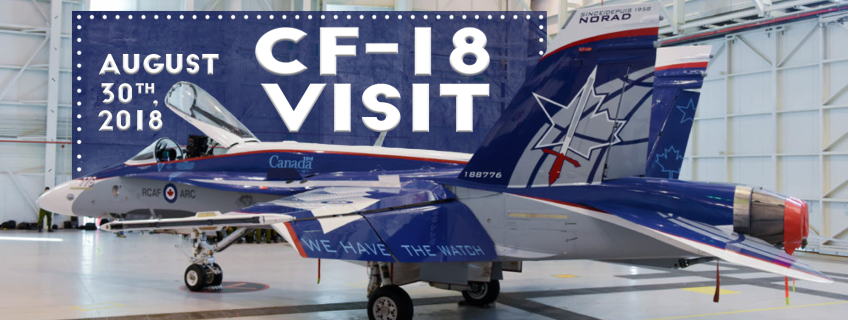 Poster for CF-18 Visit event