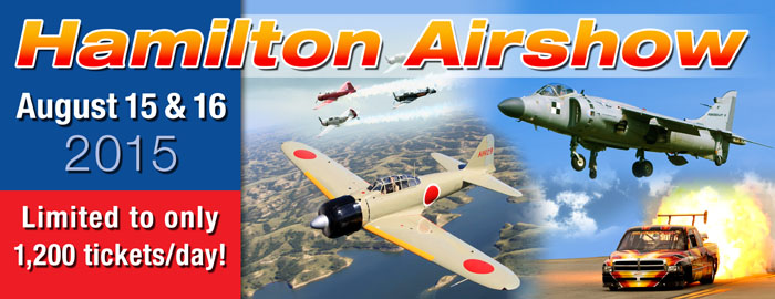 Poster for Hamilton Airshow event