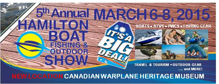 Poster for Hamilton Boat Fishing & Outdoor Show event