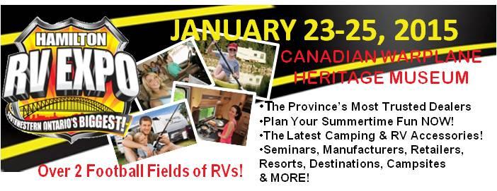 Poster for Hamilton RV Expo event