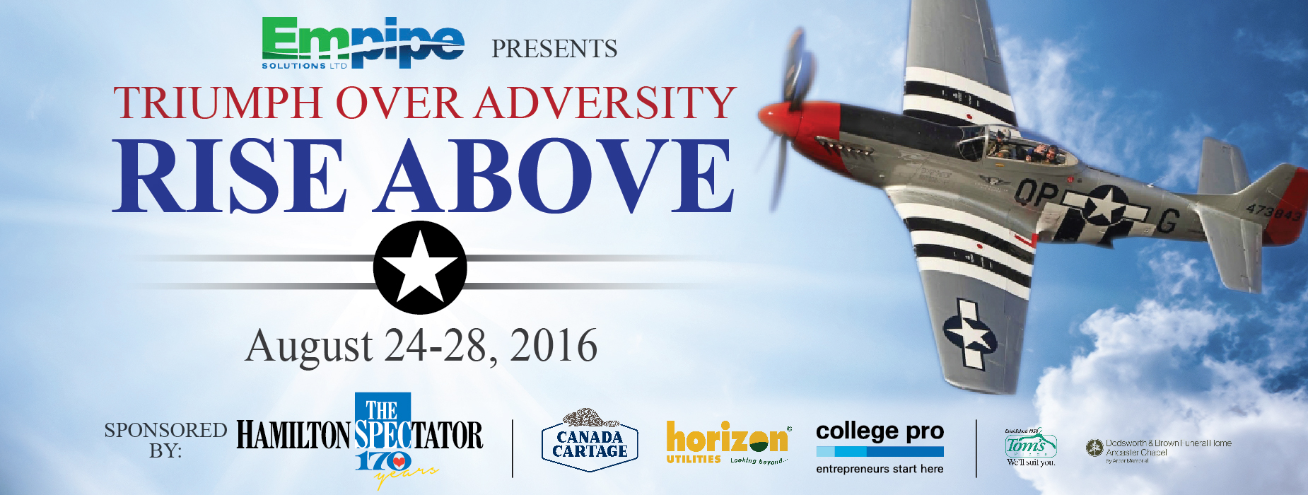 Poster for - Triumph Over Adversity - RISE ABOVE