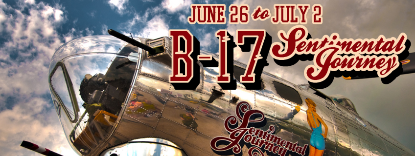Poster for B-17: A Sentimental Journey event