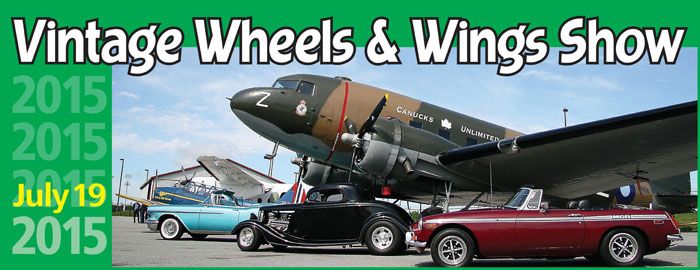 Poster for Vintage Wheels & Wings event