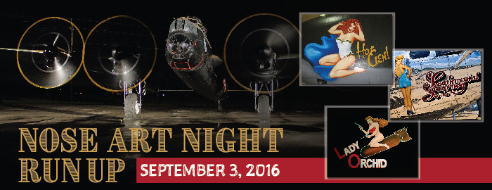 Poster for Nose Art Night Run Up event