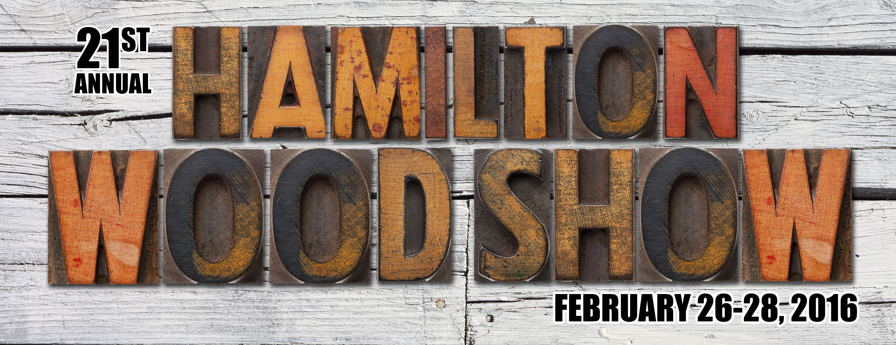 Poster for Hamilton Wood Show event