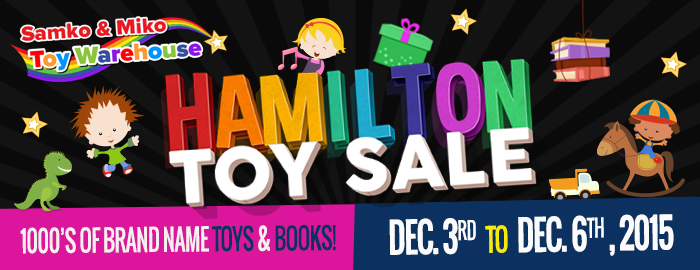 Poster for Samko & Miko Toy and Book Warehouse Sale event