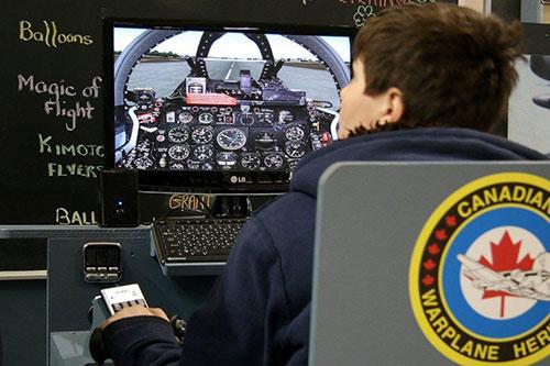 Kid in a Flight Simulation