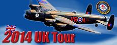 Lancaster Bomber 2014 UK Tour Poster
