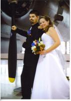 Wedding day at Canadian Warplane Heritage Museum