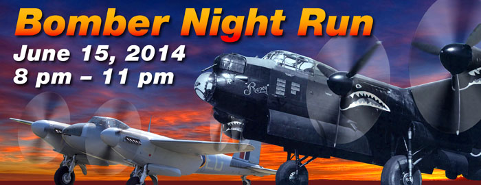 Lancaster Bomber Night Run Event Poster