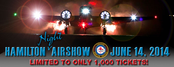 Night Airshow Event Poster