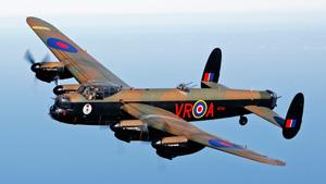 Fully restored Lancaster in flight