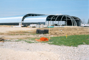 The new facility under construction
