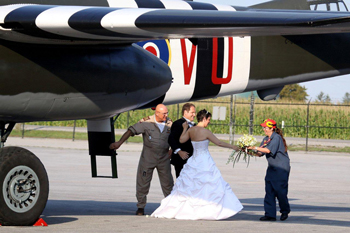 Photo of People getting married at Canadian Warplane Heritage Museum