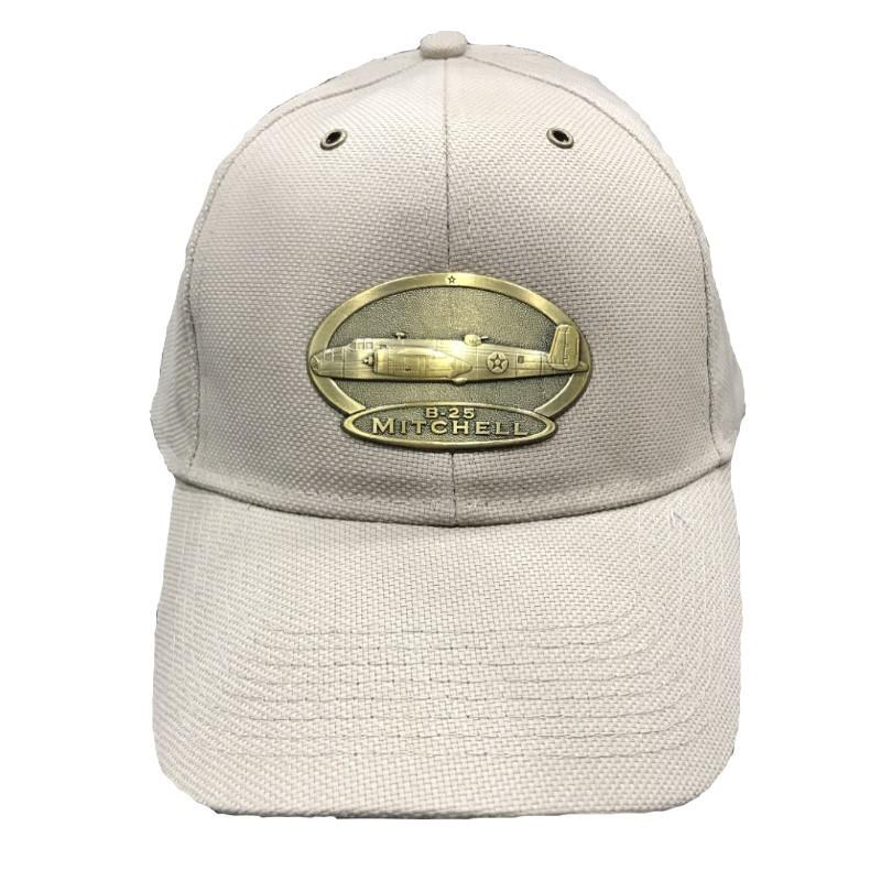 Product Photo of 11418 - B-25 Mitchell Brass Logo Hat