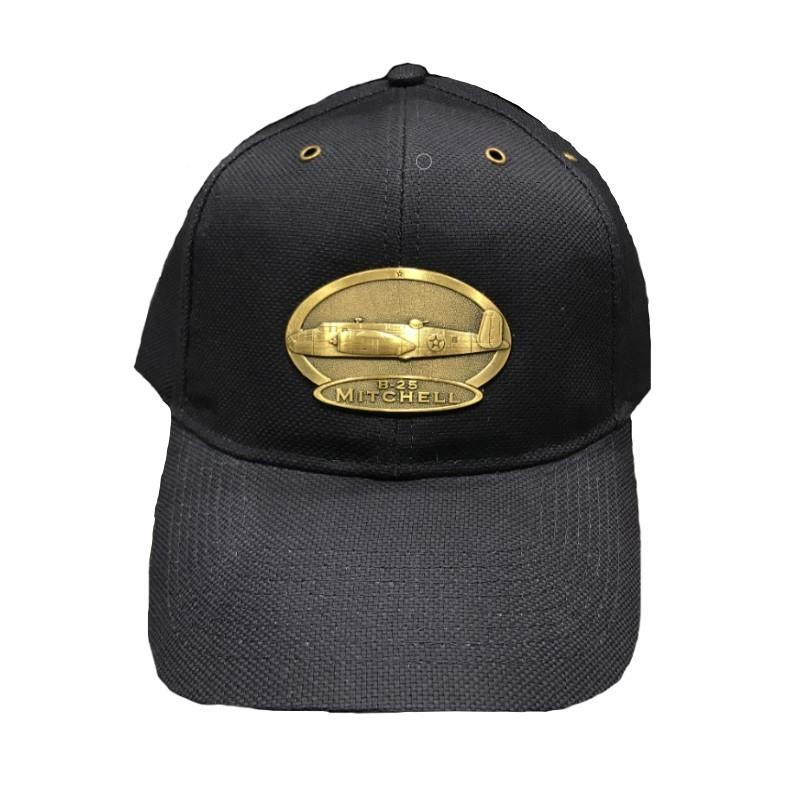 Product Photo of 15647 - B-25 Mitchell Brass Logo Hat (Navy)