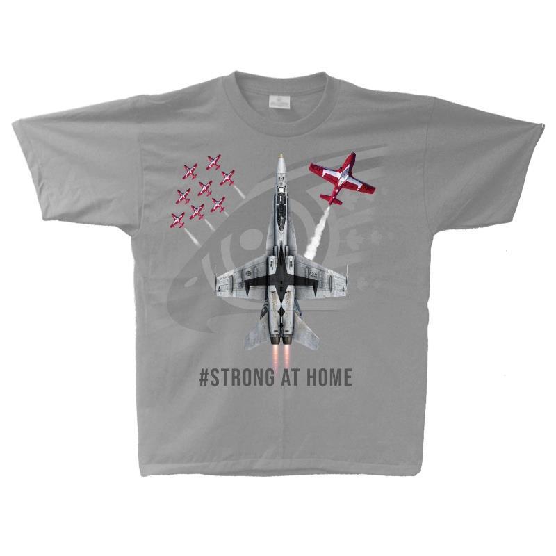 Product Photo of 2021CF 18 Demo Jet tshirt - CF-18 RCAF Demo Team, Strong at Home, TShirt