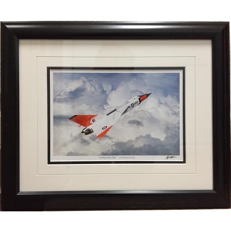 "Product Photo of 23431 - Avro Arrow ""Living on the Edge"" Framed Print"